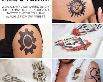 Temporary tattoo supernatural   Etsy