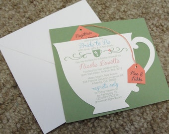 Bridal shower tea etsy bridal shower tea party cup invitation filmwisefo