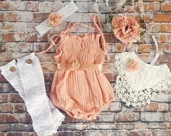 70d1f13e0de2a Baby lace romper | Etsy