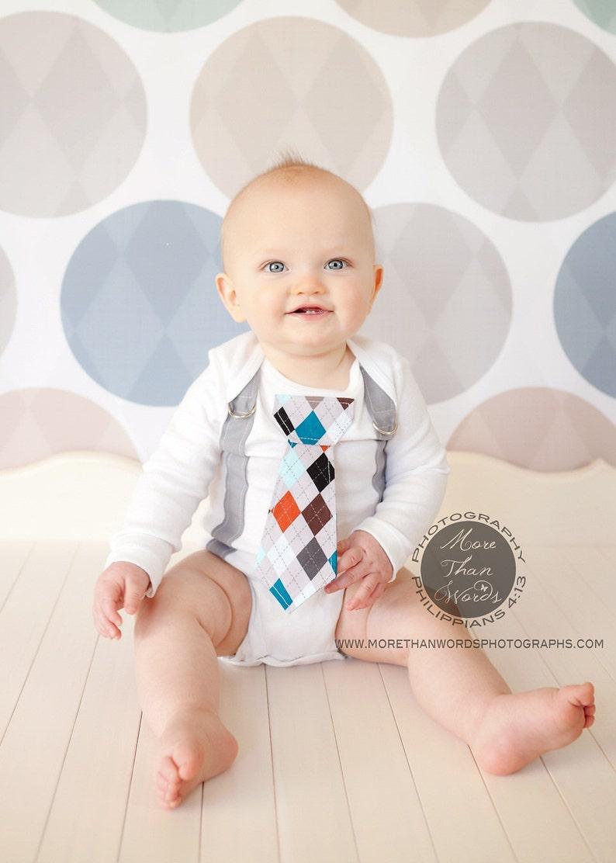 8a6de185cfa66 Baby Boy Tie Bodysuit and Suspender Bodysuit. Any Tie. Spring | Etsy