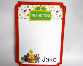 Sesame Street Thank You Cards