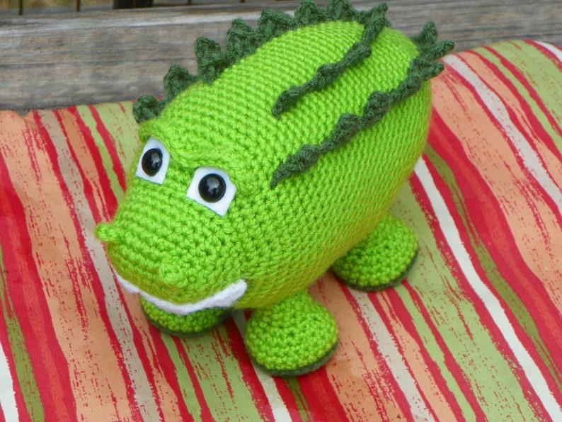 Bryan the Alligator  PDF crochet pattern image 0