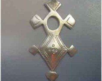 micro macram\u00e9 blue cross Berber agadez cross southern Tuareg cross for women