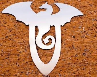 Dragon Metal Bookmark - Filofax - Planner Clip - Wedding - Party- Pathfinder - Bookmark - Birthday - Dragons- Fantasy - Mythic -D&D- DnD