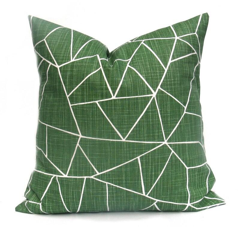 Green Pillow  Green Pillow Cover Green Throw Pillow image 0