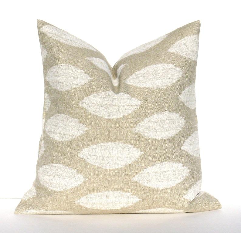 SALE PILLOW  Tan Pillow  Cream Pillow Decorative Pillow image 0