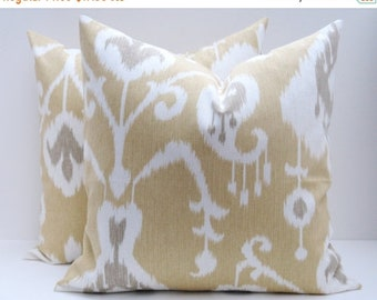 15% Off Sale Decorative Pillows, IKat Pillow, Yellow Pillow, Gold Pillow,Throw Pillows - Yellow Pillow ,Tan Pillow, Beige Pillow , Throw Pil