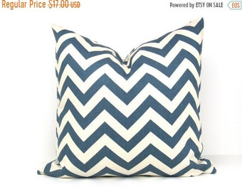 15% Off Sale BLUE pillow, Blue Pillow cover, Decorative Pillow, Chevron Pillow, Accent Pillow, Throw pillow cover, Blue cushion cover, Pillo