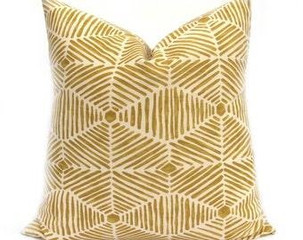 PILLOW, Yellow Pillow Cover, Decorative Pillow  Yellow Pillow Tribal Pillow - Gold Pillow -  Mustard Yellow - Throw Pillow  Designer Pillow