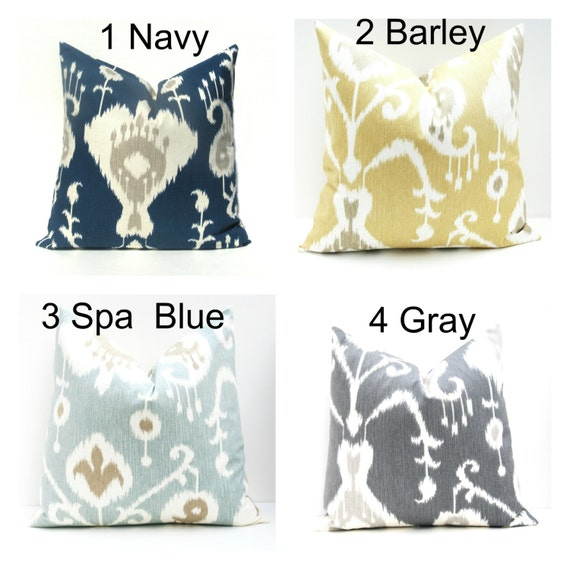 40% Off Sale Decorative Pillow Ikat Pillow Cover Euro Pillow Etsy Simple Navy And Yellow Decorative Pillows