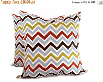 15% Off Sale 20 x 20 Pillow Cover Pillow Case Chevron Pillow Cover Pillow ZigZag Decorator Pillow Cover Printed Fabric both sides