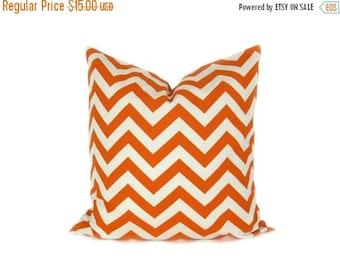 15% Off Sale Orange Pillow, Decorative Pillows ,Throw pillow covers,  Decorative Pillow ,Throw Pillows - Orange Pillow cover - Chevron - Fal