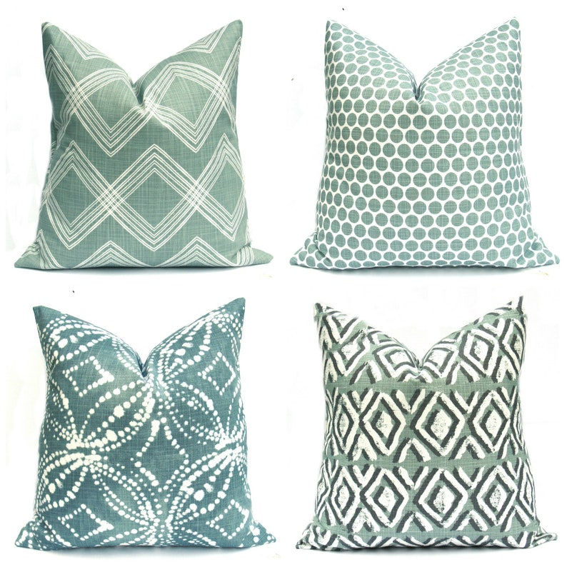 Green Pillow Green Pillows Green Pillow Covers Turquoise image 0