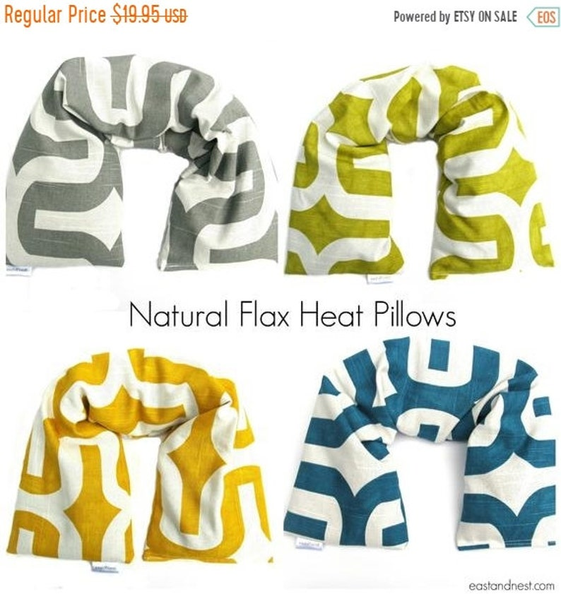 10% Off SALE Neck Warmer Microwave Heat pack Flax heating image 0