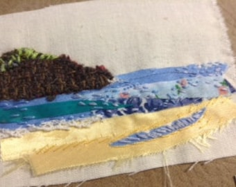 Mixed Media and Textile Art - Barleycove Beach