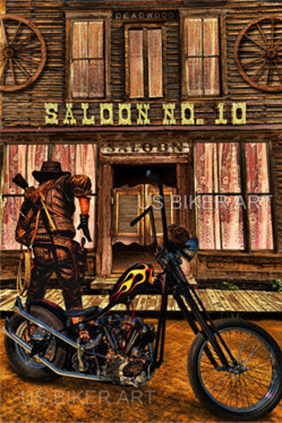 HARLEY DAVIDSON MOTORCYCLE KNUCKLEHEAD  OLD SCHOOL STURGIS USA BIKER ART PRINT