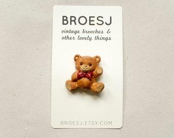 Teddy Bear Brooch Hallmark