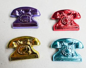 Vintage Telephone Brooch