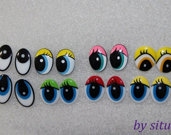 15mm 8-types Cartoon eyes Safety eyes for Amigurumi -1pairs for each type