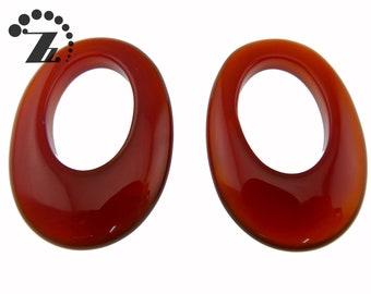 XL Rose Quartz 25x35mm Oval Donut beads 16 strand 11pcs Light pink quartz large donut beads for jewelry making