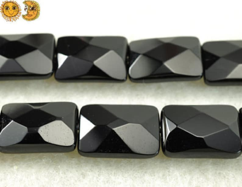 Black Onyx,15 inch full strand Black Onyx faceted rectangle beads,oblong shape beads 8x12mm 10x14mm 13x18mm 15x20mm 18x25mm for Choice