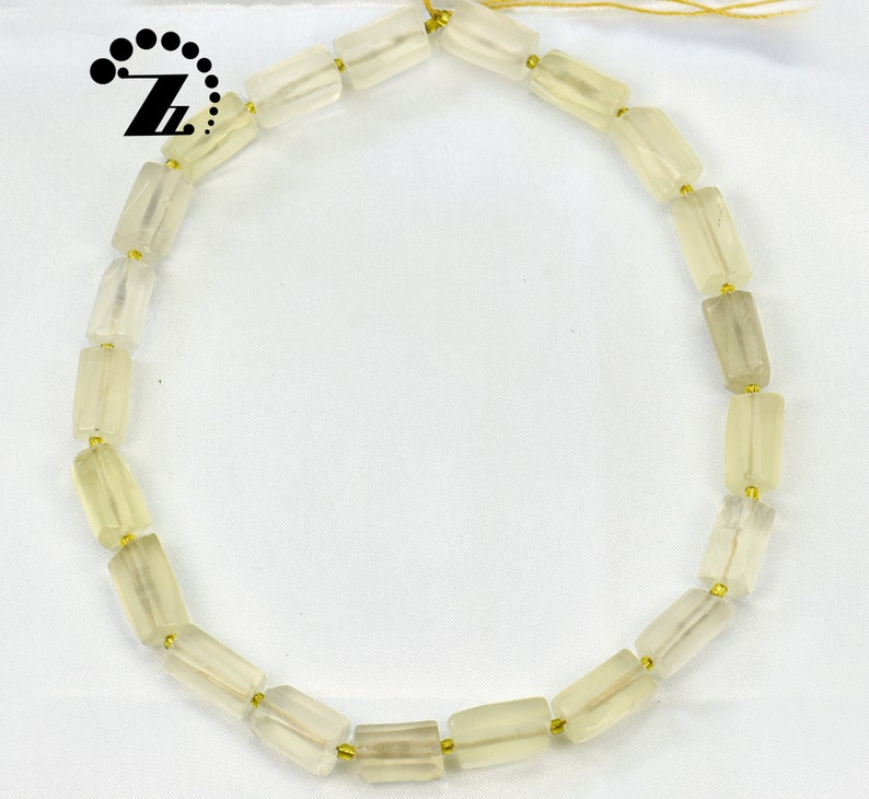 Lemon Quartz Faceted Nugget Tube,Nugget bead,Irregular bead,Crystal Quartz,Crystal bead,Natural,Gemstone,DIY,Jewelry making,15 full strand