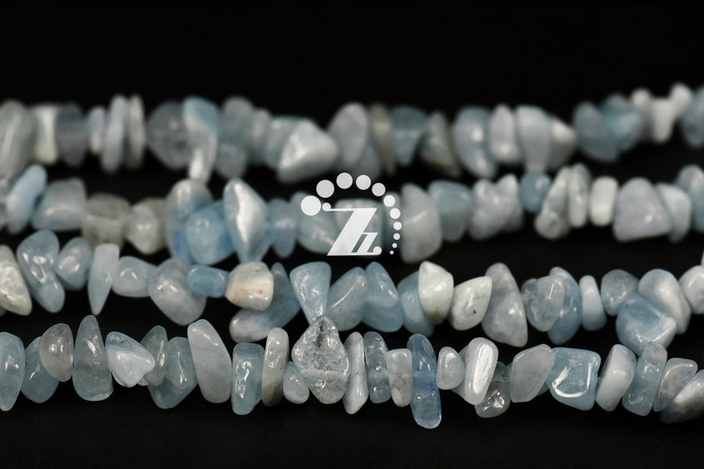 Aquamarine chip beads,irregular nugget beads,Blue Aquamarine,polished beads,diy,gemstone,natural,5-8mm,15 full strand