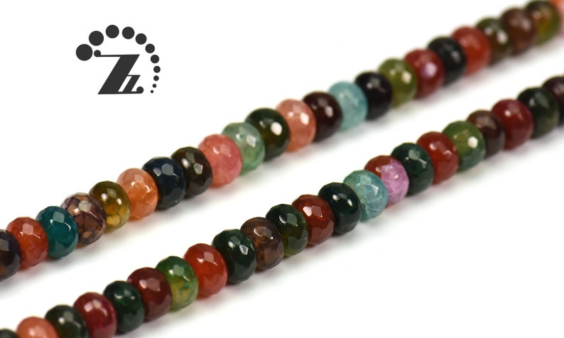 abacus bead space bead 15 full strand 5x8mm agate beads Rainbow Agate faceted rondelle beads natural