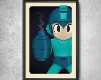 Blue Bomber - Art Print
