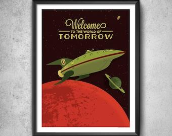 Space Print 3000 - Art Print