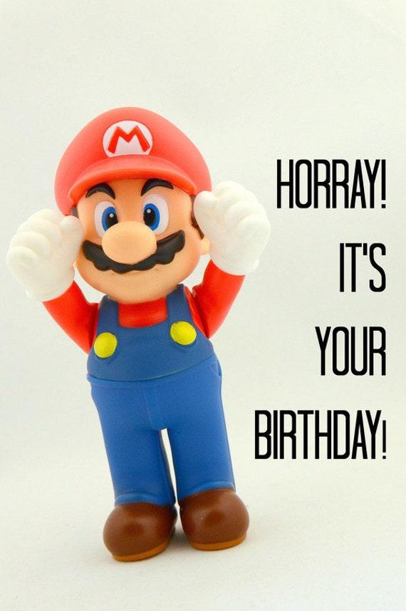 Mario Birthday Card Etsy