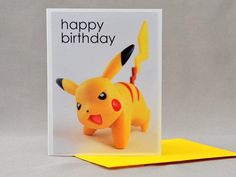 Pikachu Pokemon Birthday Card NO NAME image 0