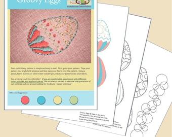 Easter Hand Embroidery Pattern Decorative Eggs