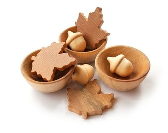 Waldorf Sorting Set - Wooden Toy - Nature Table - Natural Sorting Toy - Eco Friendly Toy - Montessori Toys