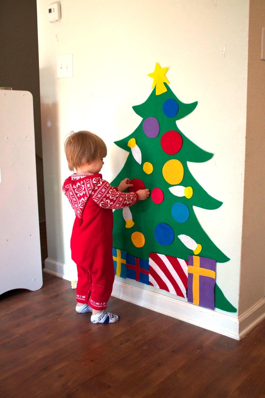 SALE Felt Christmas Tree 3ft tall Felt Story Quiet Toys   Etsy