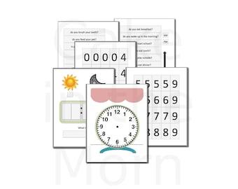 Clock File Folder Game - Teaching Time Lesson Plan - Homeschool Math - Telling Time Unit - Printable Games