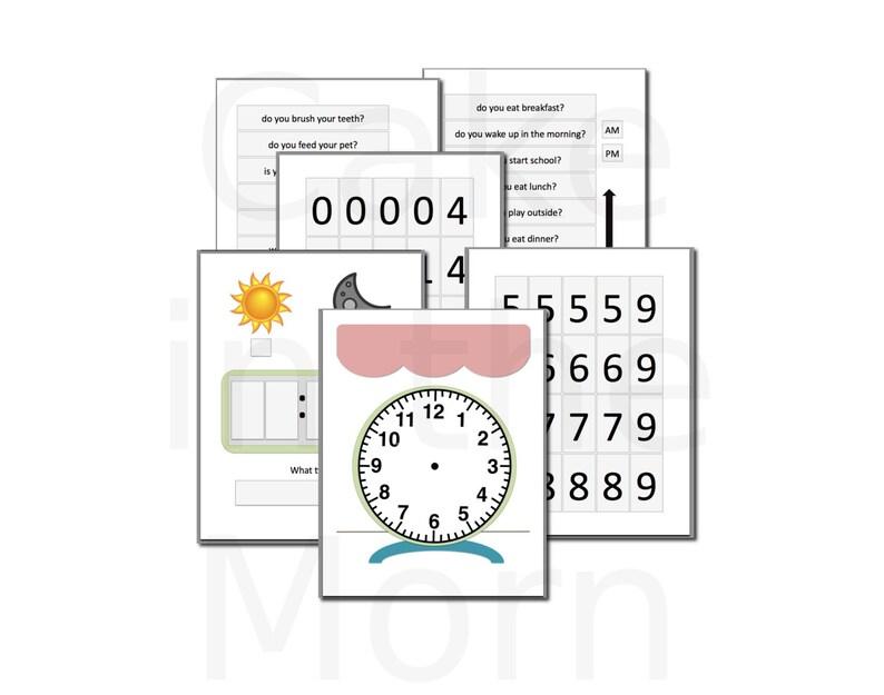 Clock File Folder Game  Teaching Time Lesson Plan  image 0