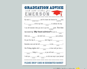 Graduation Advice Cards - Mad Libs