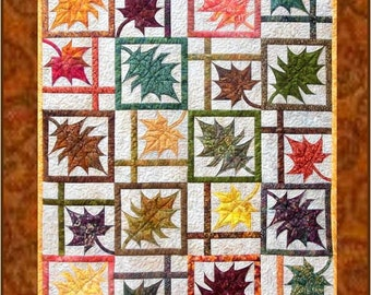 Fall Colours PDF Quilt Pattern in 3 Sizes