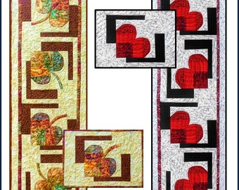 Love Those Leaves Table Runner & Placemats PDF Quilt Pattern