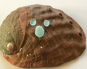 Sea Beach Glass Genuine Surf-tumbled Bright Aqua Pendant Earring set JQ flawless nicely shaped Ready for Jewelry Making
