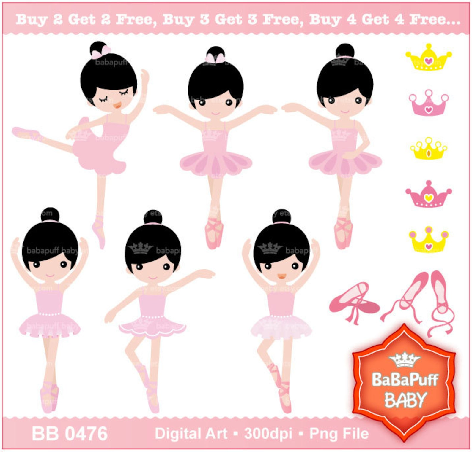 ballet princess set 4 ---- personal and small commercial use ---- bb 0476