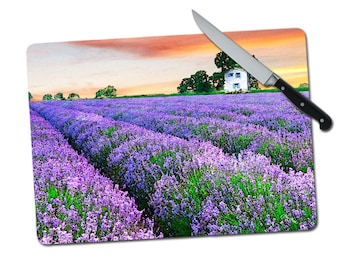 11 x 15 Manarola Italy Large Tempered Glass Cutting Board Art Cutting Board Housewarming Gift Wedding