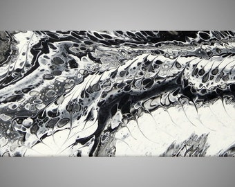 e5317bc0255 acrylic pour abstract painting pour painting acrylic painting fluid art  paintings on canvas Black and White Art wall art 24