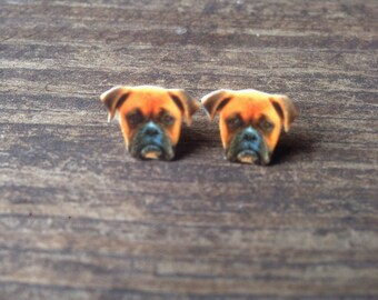 Boxer earrings dog earrings dog jewelry pet canine boxer dog