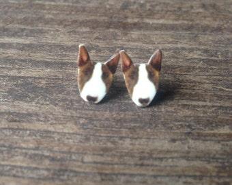 Bull terrier dog earrings jewelry pet canine animal