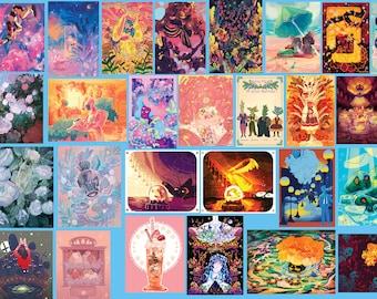 Mystery Print Bag  | matte print | surreal flower night sky art fairykei home decor pastel otaku gift bnha voltron hnk anime