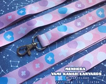 Menhera Yami Kawaii Lanyards | anime decora romance love couple cute valentine doctor fashion gift pills nurse doctor mom kitcshy pastel