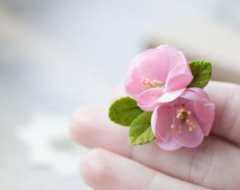 Cherry blossom ring - cherry blossom jewelry - sakura blossom - apple blossom - flower ring - botanical ring - flower jewelry - blossom ring