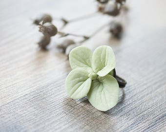 Hydrangea ring - hydrangea jewelry - flower ring - flower jewelry - botanical ring - unique ring - eco friendly jewelry - spring jewelry